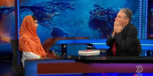 16-Year-Old Malala Yousafzai Leaves Jon Stewart Speechless With Comment About Pacifism