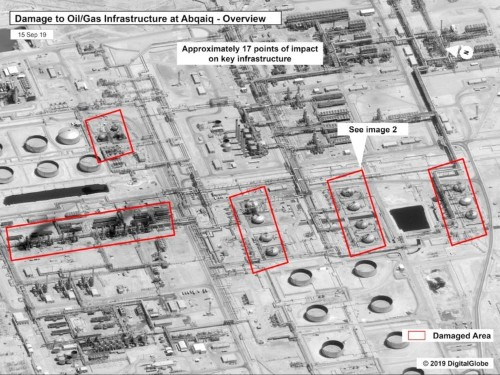 Saudi oil attack: US claims photos, type of missile show Iran to blame