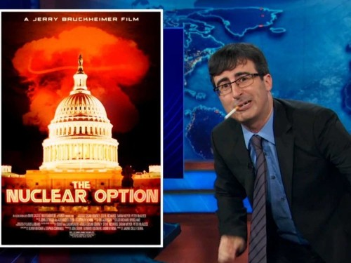 JOHN OLIVER: The Senate's 'Nuclear Option' Dust-Up Is The 'World's Most Boring Jerry Bruckheimer Movie'