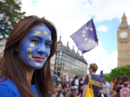 PICTURES: Protesters flooded central London in defiance of the Brexit vote
