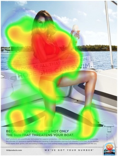 These eye-tracking heat maps show what people really care about