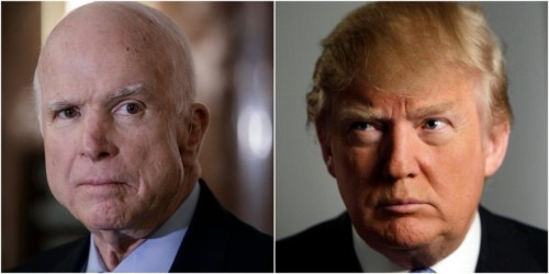 Trump trashes McCain again, and blames reporters for baiting him into it