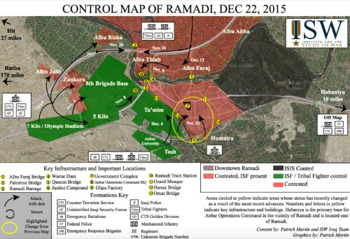 Iraqi military says it has seized the ISIS stronghold of Ramadi