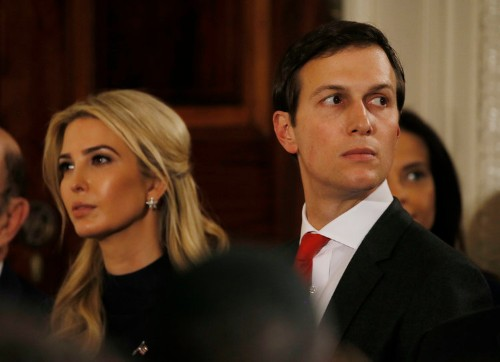 Reporters were forced out of the room during the Kushner family's presentation to wealthy Chinese investors