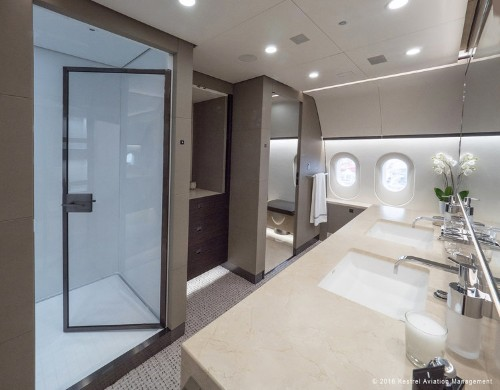 This Boeing private jet is a flying luxury home