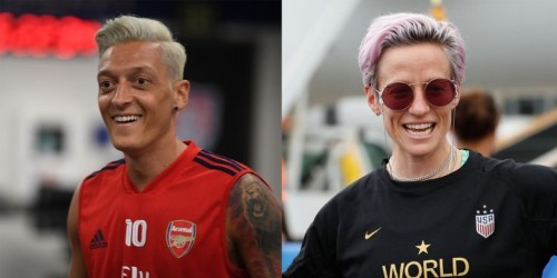 Mesut Ozil dyed his hair and now fans say he looks like Megan Rapinoe
