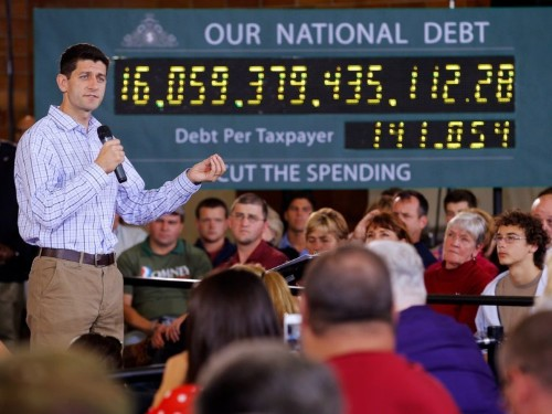 Under President Trump and House Speaker Ryan, US spending has increased and Republican tax cuts have blown a bigger hole in the budget