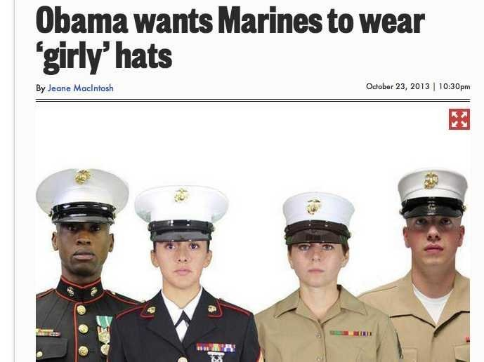 The Story About Obama Wanting Marines To Wear 'Girly' Hats Is Total B.S.