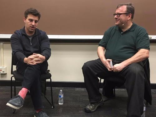 Two tech billionaires just interviewed each other in my Stanford class — here's what they said