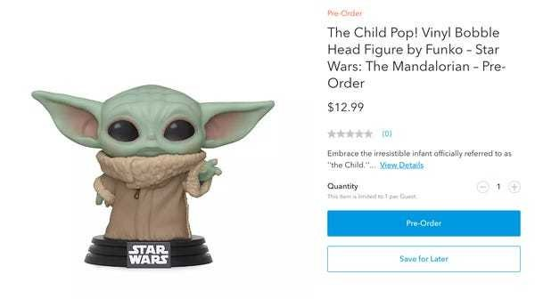 Why 'Mandalorian' Baby Yoda toys, merch isn't on sale, explained - Business Insider