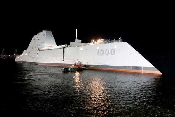 The US Navy's 'first-of-its-kind' stealthy destroyer is one step closer to activation - Business Insider