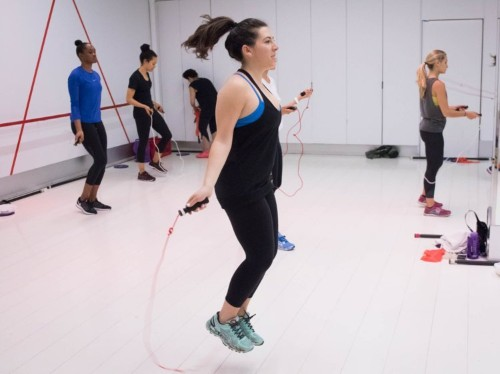 I tried Aerospace, the intense workout class that Victoria's Secret models and celebrities take to whip themselves into shape