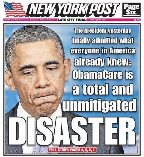 The New York Post's Obamacare Cover Says It All