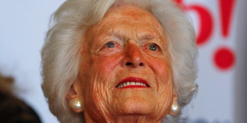 Barbara Bush, matriarch of a GOP political dynasty, said she was no longer a Republican in the Trump era