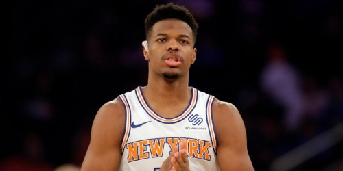 Knicks guard Dennis Smith Jr. talks being in the Kristaps Porzingis blockbuster, what fans don't realize about trades, eating octopus, and jumping over J. Cole