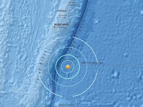 6.1-magnitude earthquake strikes southeast of Tonga