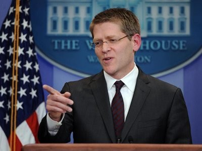 A Reporter Asked Jay Carney If Air Strikes That Kill Civilians Are 'Considered Terrorism'