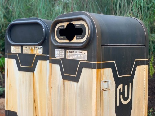 Even the garbage cans in Disney's 'Star Wars'-themed land have a hidden meaning
