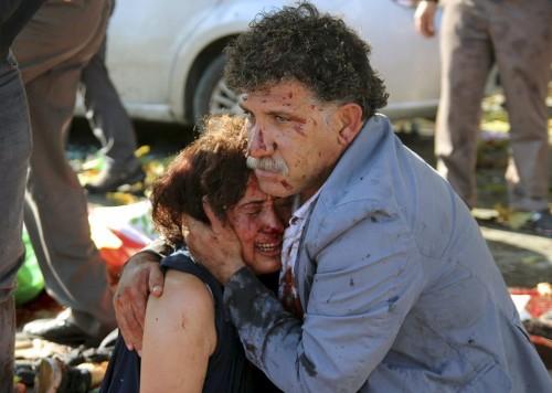 Deadliest in Turkey's history: Twin bombs kill at least 95 at pro-Kurdish rally in Ankara