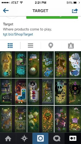 Target Has Found A Creative Way To Use Instagram's Limited Capabilities To Trick Or Treat For Halloween