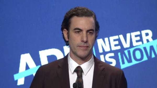 Sacha Baron Cohen ripping Facebook, internet giants apart is a must-watch - Business Insider