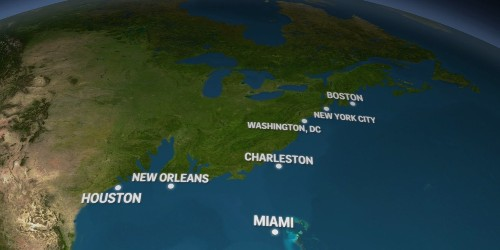 Here's what the US would look like if all the Earth's ice melted