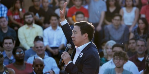 Andrew Yang announces universal basic income raffle for 10 families