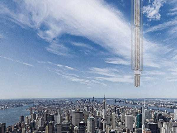 A US design firm has plans for a skyscraper that would hang from an asteroid - Business Insider