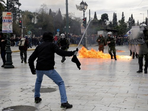 Anti-austerity protests are paralyzing Greece