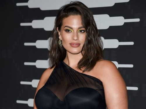 Ashley Graham rocked the red carpet in a sheer maternity dress with a black leotard underneath