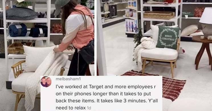 A Woman Who Decided To Decorate A Home Decor Area In Target Sparked A Debate On TikTok