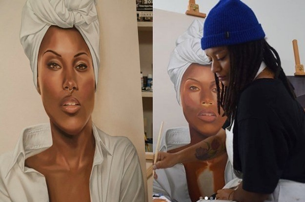 """This Is The Woman Who Really Created Those Paintings In """"She's Gotta Have It"""""""