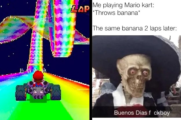 """28 Hilarious """"Mario Kart"""" Memes That'll Take You Back To The Good Old Days"""
