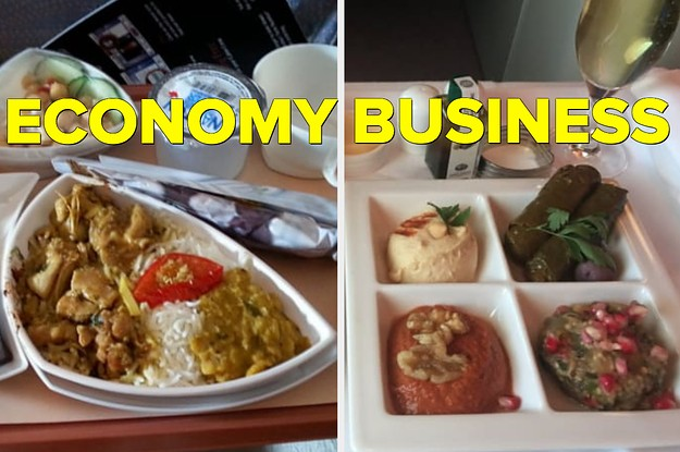 Here's What Eating In Economy Vs. Business Class Looks Like On 21 Airlines