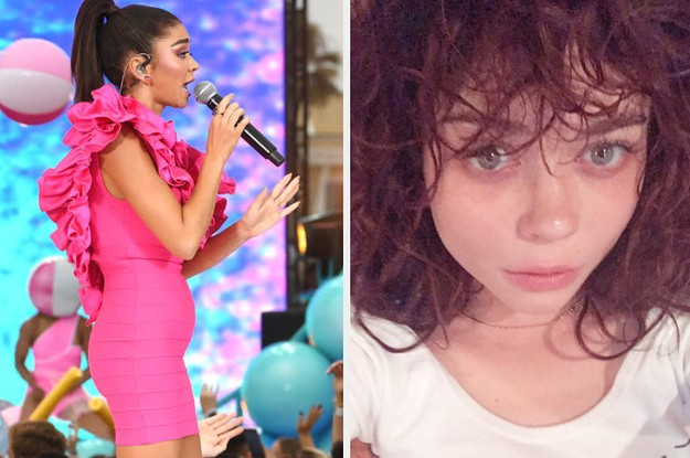 Sarah Hyland Ditched The Spanx And Let Her Kidney Bump Show In A Recent Performance