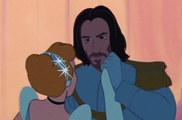Keanu Reeves As All Your Favorite Disney Princes