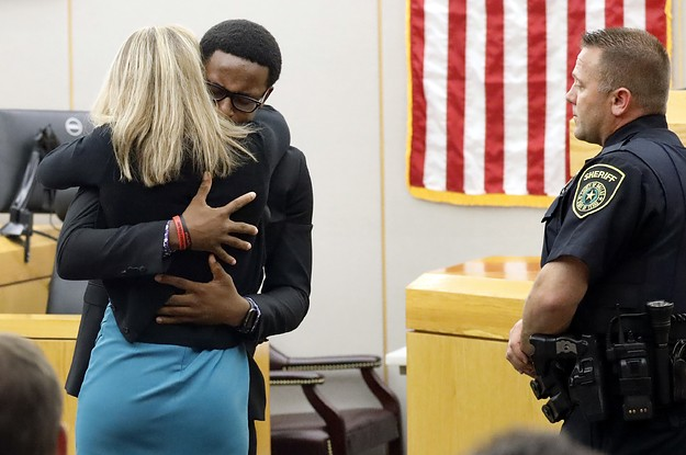Botham Jean's Brother Hugged And Forgave The Ex-Cop Who Killed His Brother After She Was Sentenced