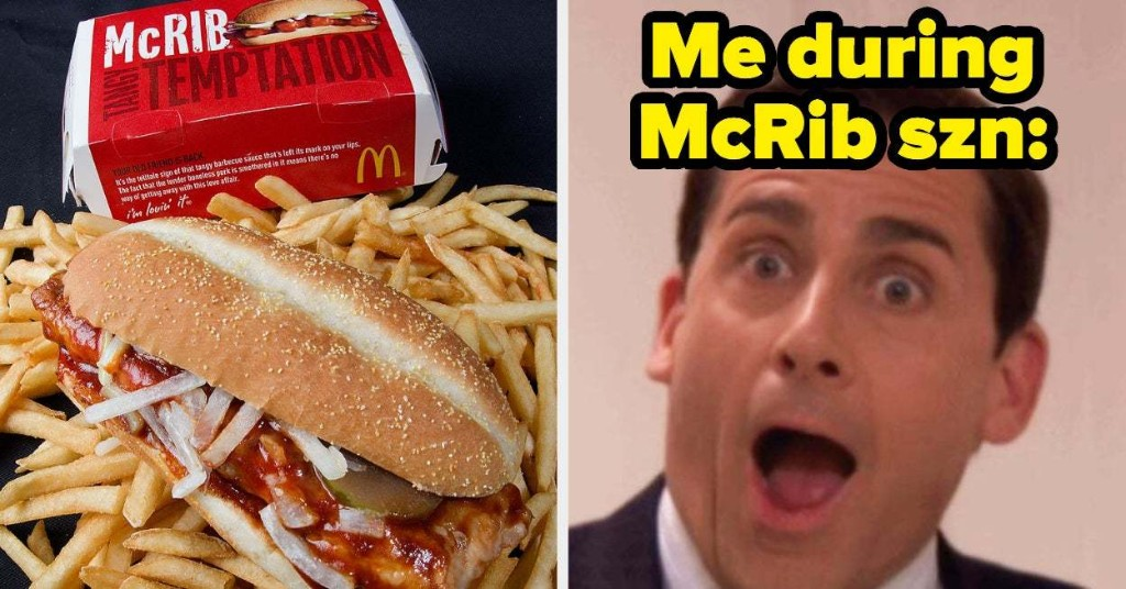The McRib Is Actually Coming Back To McDonald's, And Fans Couldn't Be More Excited