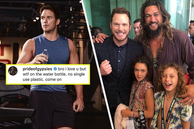 Jason Momoa Apologised To Chris Pratt After Calling Him Out For Using A Plastic Water Bottle