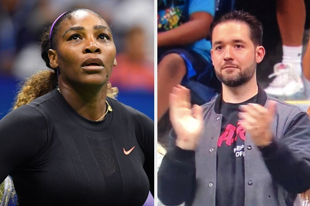Serena Williams' Husband Showed Up To Her Match In A D.A.R.E. Shirt To Subtly Drag Maria Sharapova