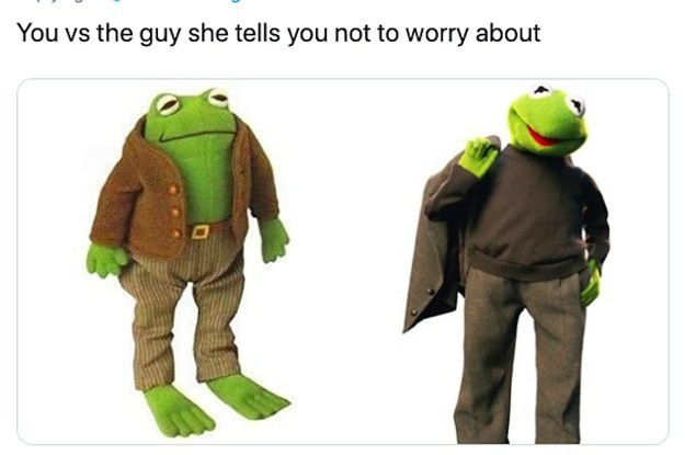 Kermit The Frog Uploaded This Photo Wearing Work Clothes And People Are Ready To Risk It All