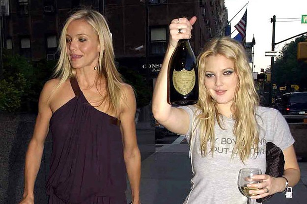 Drew Barrymore Finally Explained The Story Behind Her Iconic Drinking Champagne On The Red Carpet Pictures