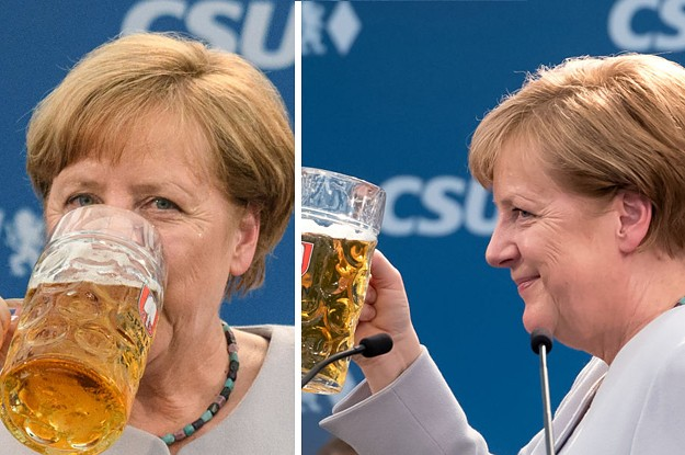 Angela Merkel Drinking Beer After Shading Trump Is The Most German Thing Ever
