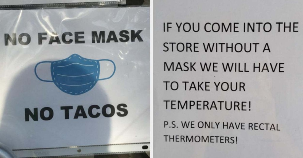 21 Stores That Had The Absolute Perfect Response To People Not Wearing Masks