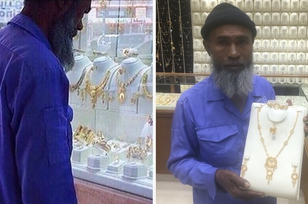 People Showered This Cleaner With Gifts After He Was Mocked For Looking At Jewelry