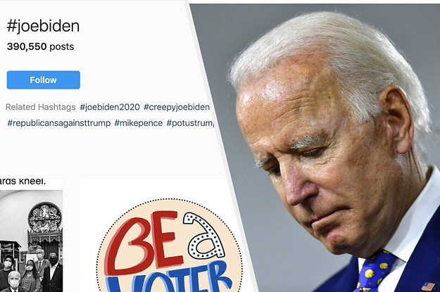 Instagram Displayed Negative Related Hashtags For Biden, But Hid Them For Trump