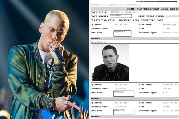 TMZ Emailed The Secret Service About Eminem's Trump Lyrics. Agents Then Investigated The Rapper.