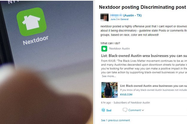 Some Nextdoor Moderators Are Unhappy With The Company's Decision To Say Black Lives Matter