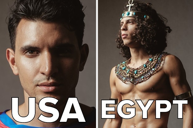 37 Men From 37 Different Places Dressed In Their National Costume For A Male Beauty Pageant