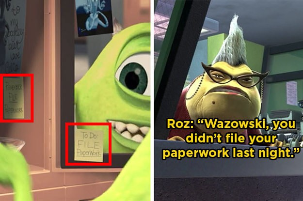 """Here Are 21 Small Details From """"Monsters, Inc."""" That You Might've Missed The First Time"""
